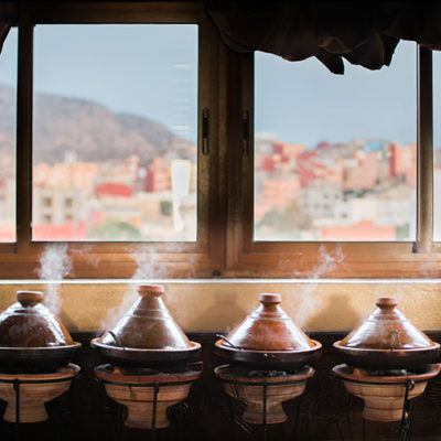 Tagines in Tamraght at Surf House Morocco